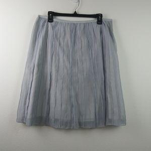 NIC+ZOE Skirts - Nic + Zoe Batiste Pleated Blue Grayish Skirt(16)
